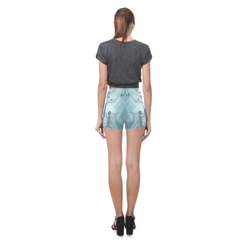 Cute fairy with little dragon Briseis Skinny Shorts (Model L04)