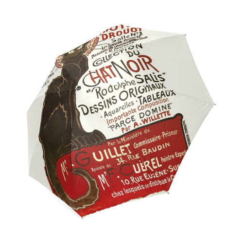 Le Chat Noir Art Nouveau French Vintage Foldable Umbrella