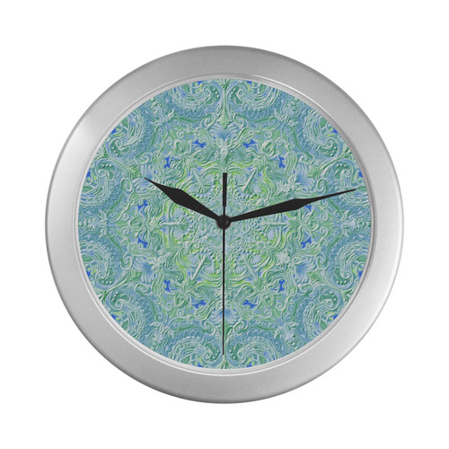 mandala oct 2016-11 Silver Color Wall Clock