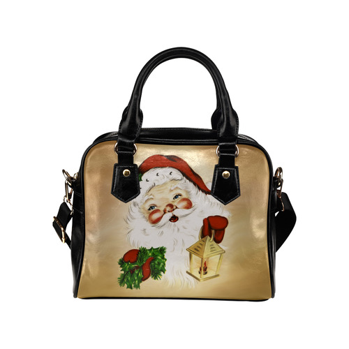 A cute Santa Claus with a mistletoe and a latern Shoulder Handbag (Model 1634)