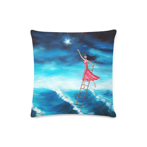 "Reach for the Stars Custom Zippered Pillow Case 16""x16""(Twin Sides)"