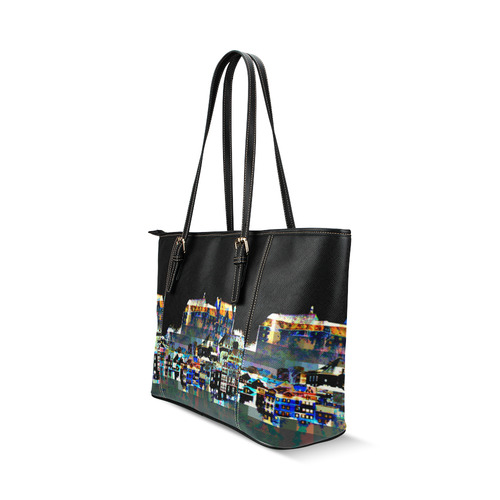 VELA Leather Tote Bag/Small (Model 1640)