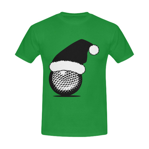Santa Hat Golf Ball Christmas Men's Slim Fit T-shirt (Model T13)