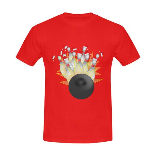 Santa Hat Bowling Ball And Pins STRIKE Christmas Men's Slim Fit T-shirt (Model T13)