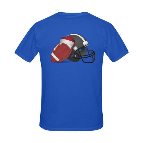 Santa Hat Football and Helmet Christmas Men's Slim Fit T-shirt (Model T13)
