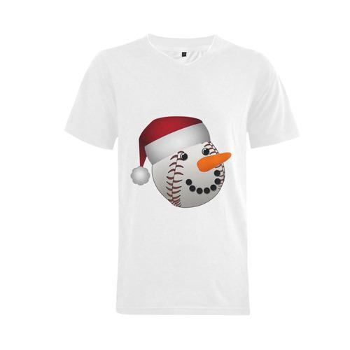 7c5c3485 Santa Hat Baseball Cute Face Christmas Men's V-Neck T-shirt Big Size(USA  Size) (Model T10) | ID: D944535