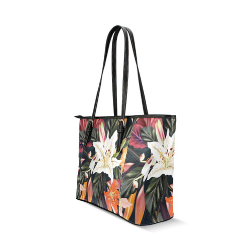 New! Floral designers exclusive Bag collection in vintage artistic style. Collection 2016 is now ava Leather Tote Bag/Large (Model 1640)