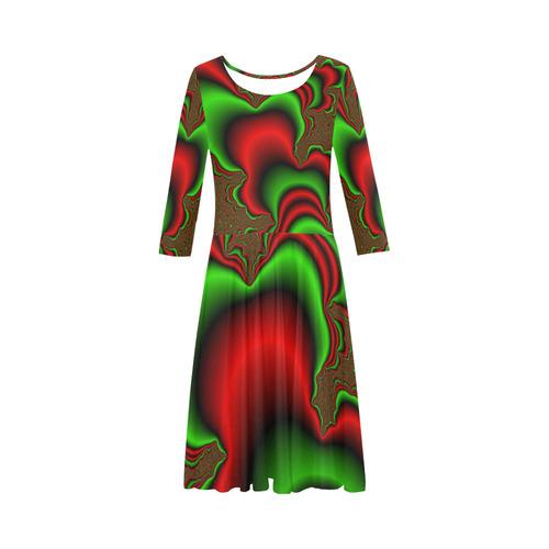 4bfb2c742b0f Tubular Xmas by Martina Webster Elbow Sleeve Ice Skater Dress (D20) | ID:  D950517