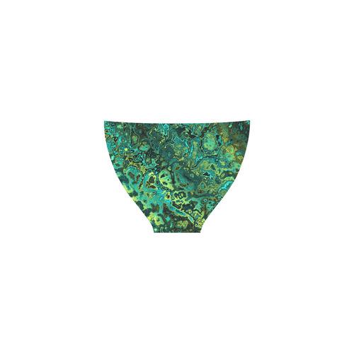 greens abstract Custom Bikini Swimsuit (Model S01)
