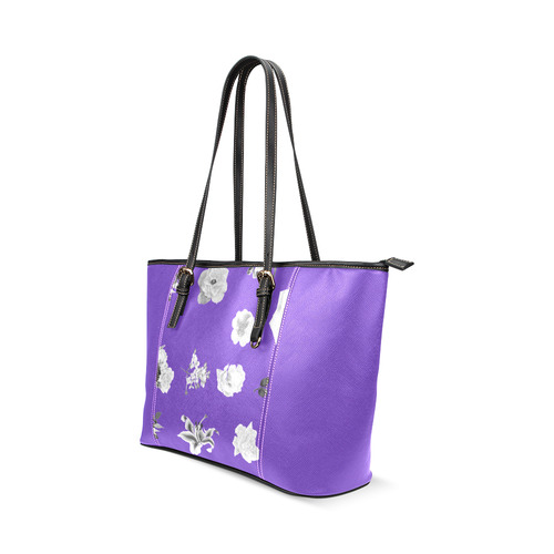 New! Designers arrival in our Shop in vintage purple and greyscale / Hand-drawn edition in Russia fo Leather Tote Bag/Small (Model 1640)