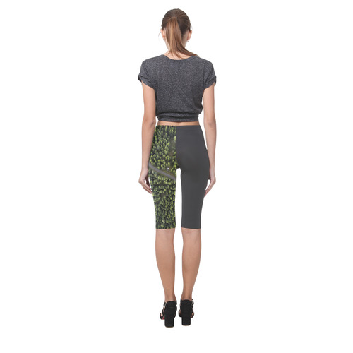 "New! Original designers leggings Fashion. Design with ""area forest"". Designers nordic edit Hestia Cropped Leggings (Model L03)"
