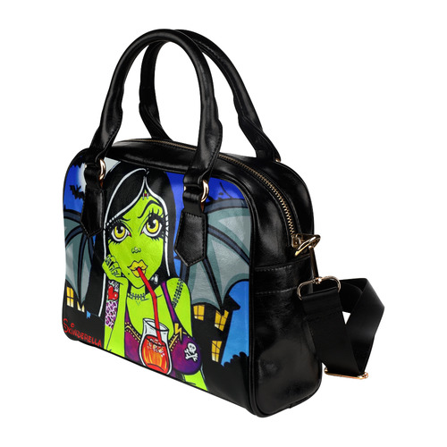 """Frankie Bat"" by Skinderella Shoulder Handbag (Model 1634)"