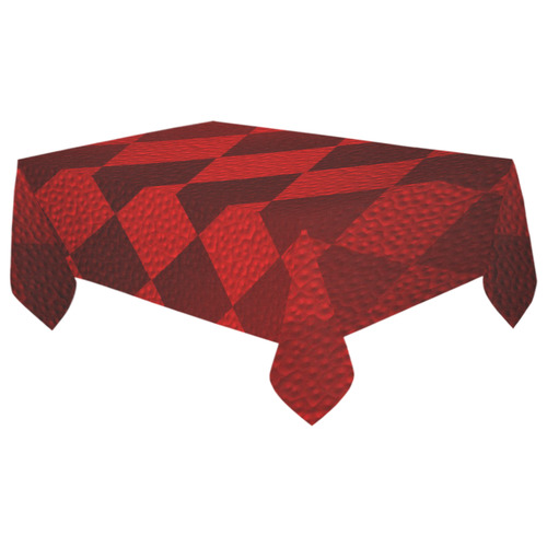 "Christmas Red Square Cotton Linen Tablecloth 60""x 104 ..."