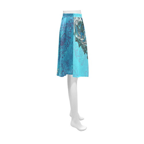 Vintage design with lion Athena Women's Short Skirt (Model D15)