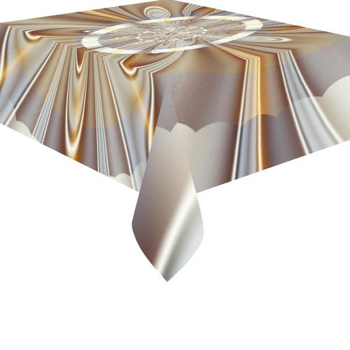 """Gossamer Fine Fractal Art Cotton Linen Tablecloth 52""""x 70"""""""