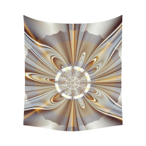 """Gossamer Fine Fractal Art Cotton Linen Wall Tapestry 60""""x 51"""""""