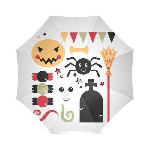 New arrival in Design shop : Halloween umbrella. Original hand-drawn art. Black, orange and red. Col Foldable Umbrella (Model U01)