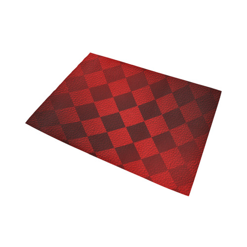 Christmas Red Square Area Rug7'x5'