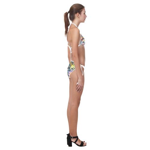 pop precolombino Custom Bikini Swimsuit (Model S01)