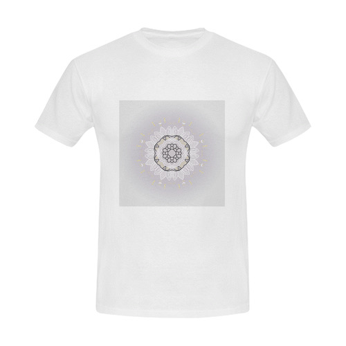 Mans designers T-Shirt with hand-drawn mandala Art. New arrival in Shop. Luxury fashion. Men's Slim Fit T-shirt (Model T13)
