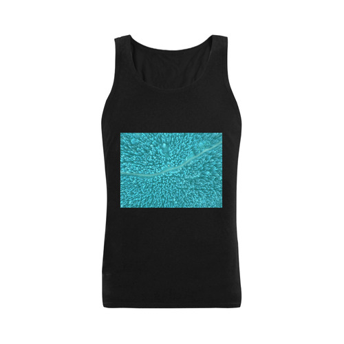 Designers T-Shirt : Black edition with Area - forest Art. Designers edition 2016. Plus-size Men's Shoulder-Free Tank Top (Model T33)