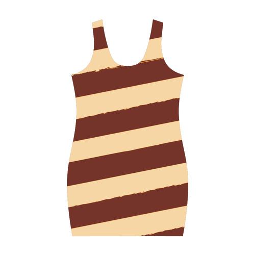 "Young designers dress fashion. ""Chocolate collection!"" pretty stripes, deep tones. New art Medea Vest Dress (Model D06)"