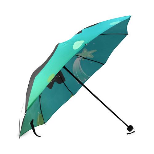 New in atelier. Sue cat - bat designers artistic Umbrella. Kids edition 2016. Black and galaxy Art Foldable Umbrella (Model U01)