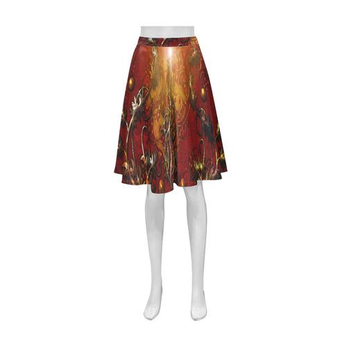 Wonderful floral design, vintage Athena Women's Short Skirt (Model D15)