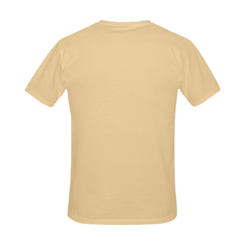 Vintage fashion designers T-Shirt edition for modern Man. Brown waves / Inspired art with 70s. Desig Men's Slim Fit T-shirt (Model T13)