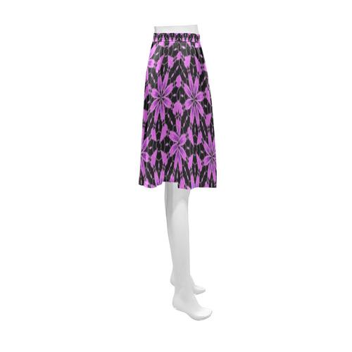 Black Lavender Floral Athena Women's Short Skirt (Model D15)