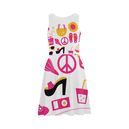 "New dress in shop! Vintage hand-drawn fashion with ""Magazine illustrations"" by guothova! O Atalanta Sundress (Model D04)"