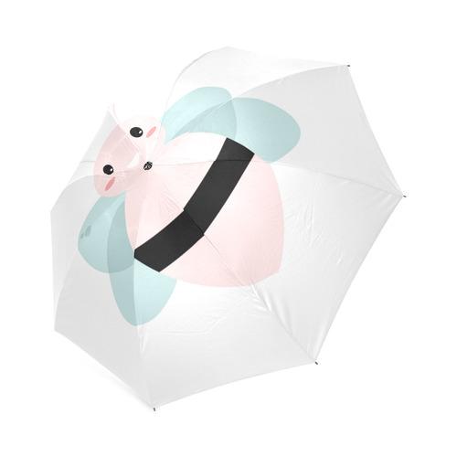 Vintage Umbrella with cute bee. Artistic designers new umbrella in our shop with hand-drawn Original Foldable Umbrella (Model U01)