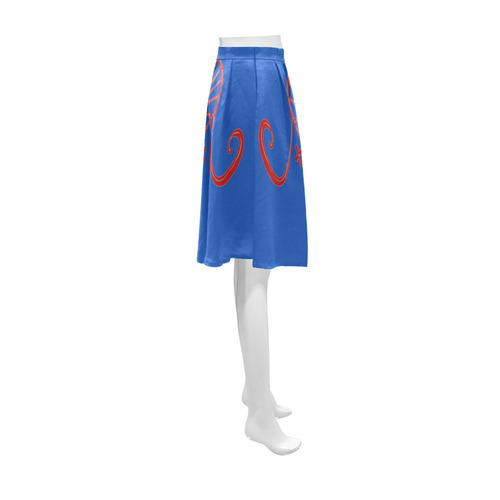 VOODOO SYSMBOL ERZULIE Athena Women's Short Skirt (Model D15)