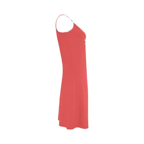 Original vintage hand-drawn Designers dress with vintage roses. Original designers fashion for 2016 Alcestis Slip Dress (Model D05)
