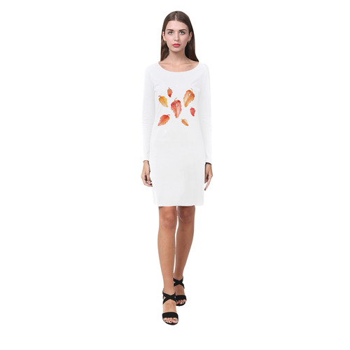 Orange leaves Demeter Long Sleeve Nightdress (Model D03)