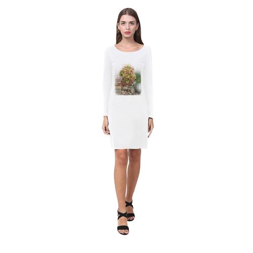 Pot full of colors, watercolors Demeter Long Sleeve Nightdress (Model D03)