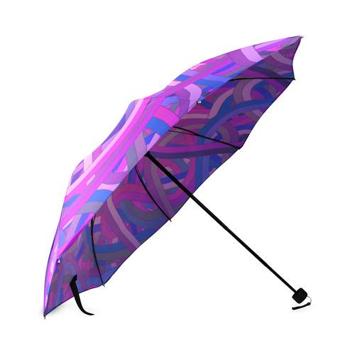 Purple Blue Tangle Foldable Umbrella