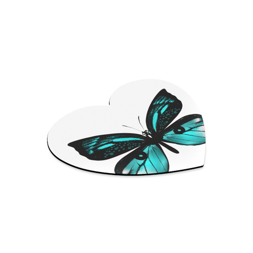 New! Designers heart-shaped vintage edition with Butterfly. New design in our atelier is fresh. Vint Heart-shaped Mousepad