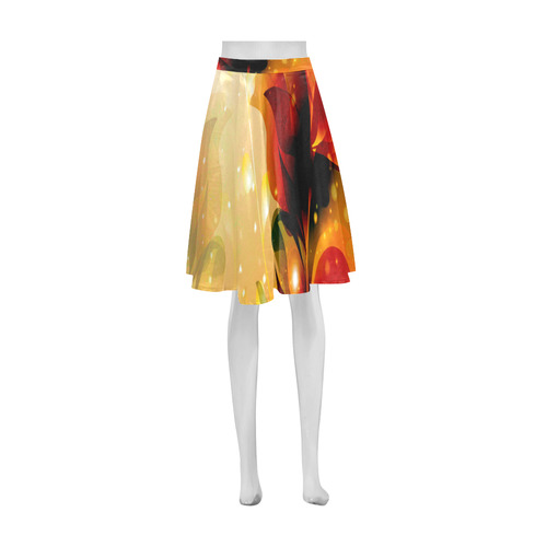 Awesome abstract flowers Athena Women's Short Skirt (Model D15)