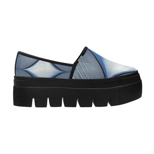 blue sky pattern Selene Deep Mouth Women Shoes (Model 311)