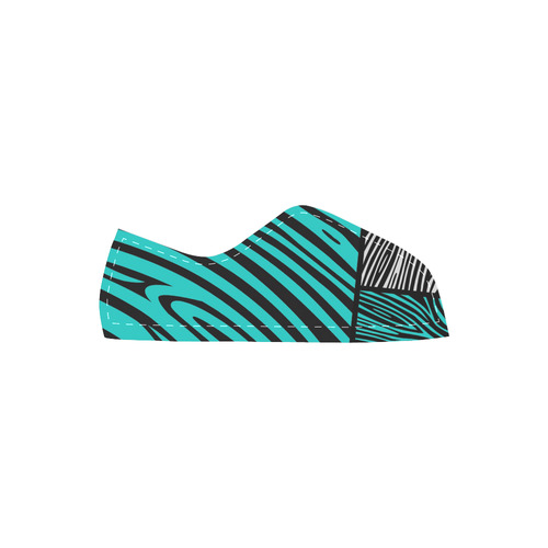 New! Africa striped Collection 2016. New arrival in Shop. Unique hand-drawn design. Welcome in our u Velcro Canvas Kid's Shoes (Model 008)