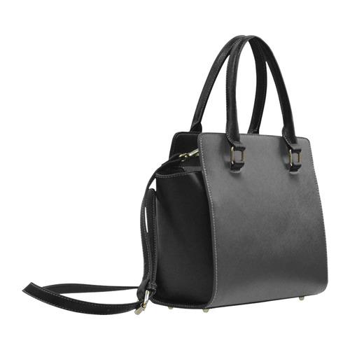 """Skull Heart Kiss"" by Skinderella Classic Shoulder Handbag (Model 1653)"