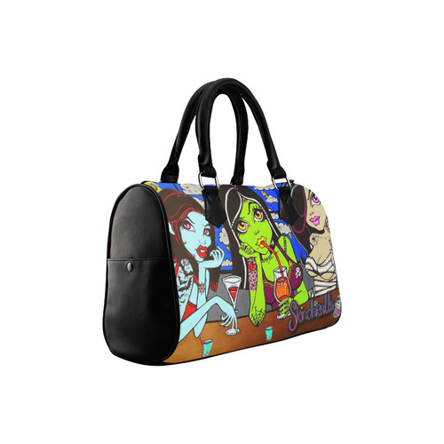 """Ghouls Night Out"" by Skinderella Boston Handbag (Model 1621)"
