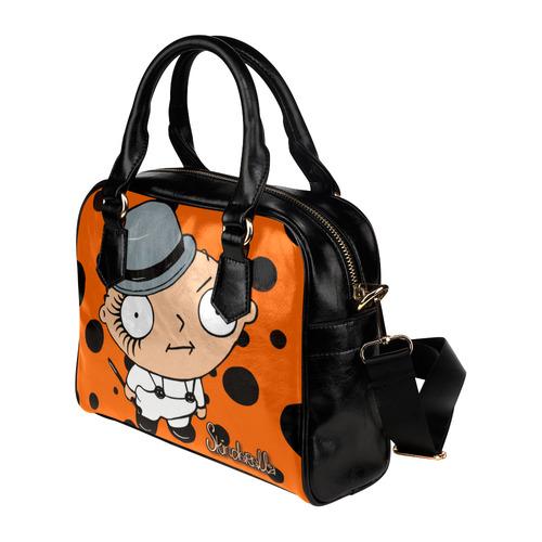 """""""Clockwork Stewie"""" by Skinderella Shoulder Handbag (Model 1634)"""
