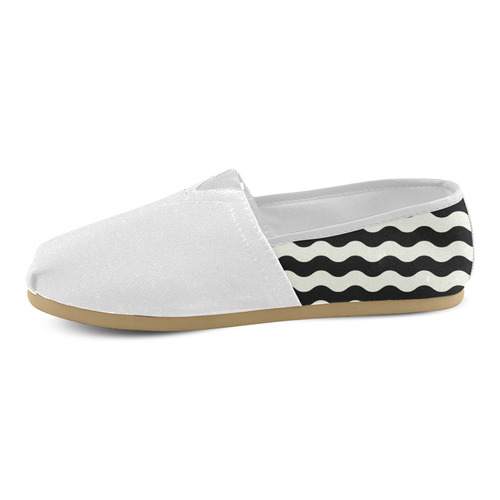 New! Designers original shoes. Black and white wave edition 2016 Unisex Casual Shoes (Model 004)
