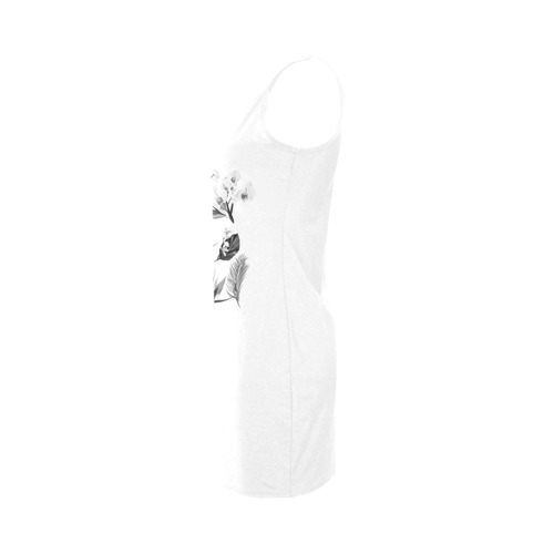 New exclusive designers hand-drawn Dress edition. Vintage hand-drawn art. Exclusive fashion in grey  Medea Vest Dress (Model D06)