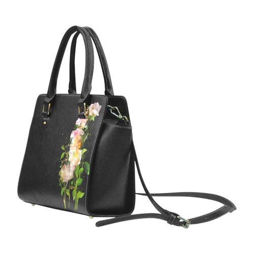 Watercolor Blend Roses Classic Shoulder Handbag (Model 1653)