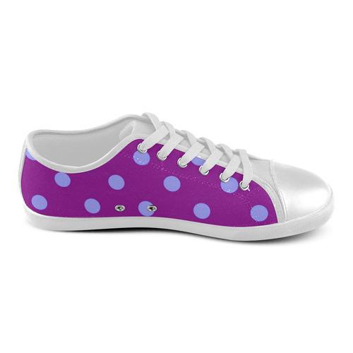 New arrival in Shop : Luxury designers fashion 2016 / Orange and Purple dots edition. Original serie Women's Canvas Shoes (Model 016)
