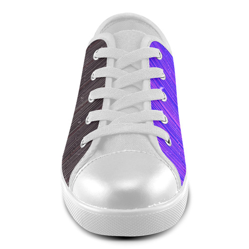 WE LOVE GOOD DESIGN. We love contrast combination in wild purple and deep shade tones. New art in ou Canvas Kid's Shoes (Model 016)