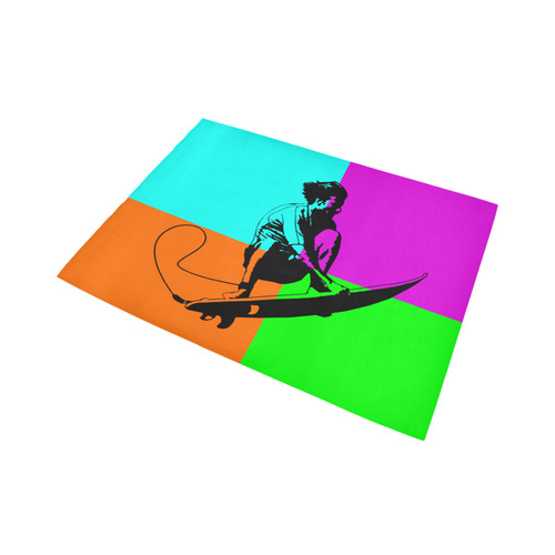 extreme sport - surf Area Rug7'x5'